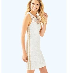 NWT Lily Pulitzer Mila Dress with Gold Accent - 6